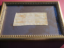 Vatican framed reliquary relic Shroud of Turin Passion Jesus Christ Sindon