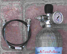 TJ3 DIN300 SLO-FLO Valve Gauge, Bleeder, Hose Ass'y for SCBA, Airgun Paintball