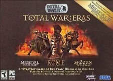 Total War : Eras Medieval Rome Shogun + Expansions Manuals Poster Art Box PCCD
