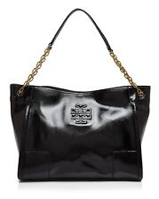 NWT Tory Burch 'Britten' Leather Slouchy Tote Hobo Bag $495 BLACK 100% AUTH