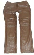 DKNY~LADIES~BROWN~GENUINE LEATHER~COCKTAIL STRAIGHT PANTS~14~RARE & HTF