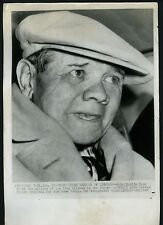 Babe Ruth leaves hospital 1947 Press Wire Photo New York Yankees