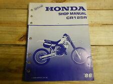 Factory OEM Service Manual Honda 1986 CR125 17Chpt