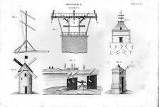 Stampa antica MECCANICA attrezzature per il TELEGRAFO 1848 Old print