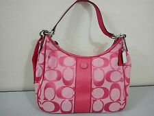 NWT Coach Signature Stripe  Hobo Crossbody Bag