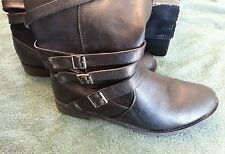 Torrid Black Strapy Ridding Boots Womens Size 10W