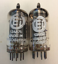 2 NOS MATCHED Ei ELITE 12AX7E ECC83 SMOOTH PLATE TUBES for DAC Preamp Amp