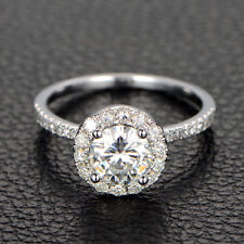 1.79 CT Off White Yellow Round Moissanite Engagement Ring 925 Silver Ring Nr0 9