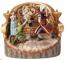 Disney Traditions Daring Duel Carved Peter Pan Captain Hook Figure 18cm 4048653