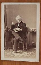 Disderi CDV Victorian Fashion Distinguished Gentleman Sitting with Papers Specs