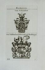 1827 Wappen Freiherren von Schäzler Süßkind auf Schwendi Bechingen Kupfer Tyroff
