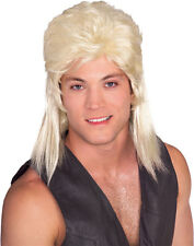 Mens Mullet Wig Redneck Hair Costume Mullett Red Neck Hillbilly Adult Blonde NEW