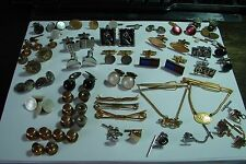 LOT ANTIQUE & VINTAGE CUFFLINKS, M.O.P., BUTTON STUDS-SOME MATCHING -MISC DRAWER
