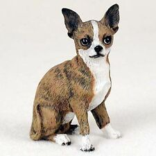 CHIHUAHUA Brindle Hand Painted Canine Collectable Figurine Statue
