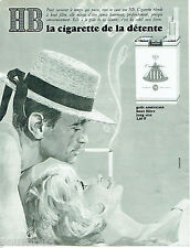 PUBLICITE ADVERTISING 115  1965  HB cigarettes Par Philip KELER