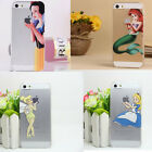 Hot Princess Cartoon Clear Back Case Cover For Apple iPhone 4/4S 5/5S 5C 6/6plus