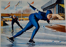 WILLIAM NELSON LITHOGRAPH OLYMPIC SKATING (SHEILA YOUNG) SIGNED #58/400