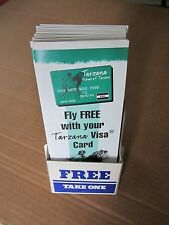12 TARZANA HOME OF TARZAN~VISA CARD APPLICATIONS w/ COUNTER TOP STAND-UP HOLDER
