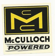 McCulloch Powered Racing Decal Sticker 4-1/2 Inches Long Size Vintage Type