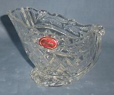 Gorham Germany Fine Crystal Christmas Snow Sleigh Sled Candy Nut Dish Bowl