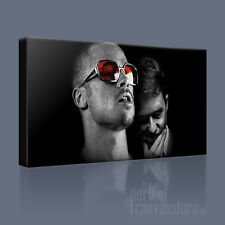 FIGHT CLUB BRAD PITT ED NORTON TYLER DURDEN ICONIC CANVAS ART PRINT Art Williams