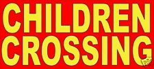 "Children Crossing Safety Sign Decal 22"" Concession Ice Cream Food Truck"