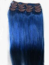 "New Womens AAA+ 12""~22"" Remy Human Hair Extensions Clip In Straight Hair 70-75g"
