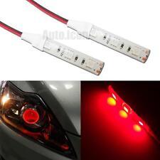 2pcs 3-SMD Red Demon Eyes LED Strip Lights Lamp For Car Headlights DIY Retrofit