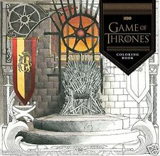 HBO Game of Thrones Adult Colouring Book Dragons Westeros Seven Kingdoms Fantasy