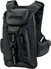 Icon Squad 3 Backpack Riding Black Chest Strap Sport Street Bike Bag Reflective