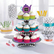 Mad Hatter Alice in Wonderland Party Cupcake Afternoon Tea Cake/Treat Stand