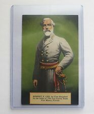 Vintage POSTCARD General Robert E Lee Civil War Military Confederate County FL