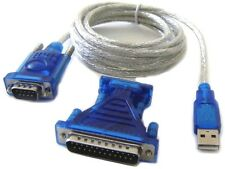 Serial Port DB 25-Pin DB 9-Pin To USB RS232 Adapter Cable