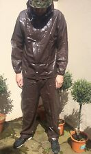 Shiny Wet Look Nylon Track Suit Pvc Sexy L rain Sport