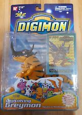 New Sealed Bandai Digimon Digivolving Greymon Figure Poster & Card #3981