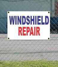 2x3 WINDSHIELD REPAIR Red White & Blue Banner Sign NEW Discount Size & Price