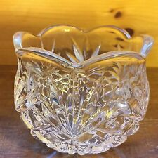 CRYSTAL GLASS Candle VOTIVE CUP Tealight HOLDER Scalloped Clear Pressed Diamonds