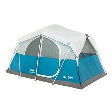 Coleman Echo Lake 6 Person Fast Pitch Cabin Tent w/ 2' x 2' Cabinet | 12' x