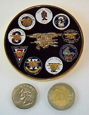 Challenge Coin - SEAL Teams 1, 2, 3, 4, 5, 6 (DEVGRU), 7, 8 & 10, The Only Easy