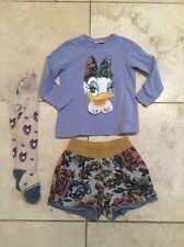 Monnalisa Daisy Duck top pantaloncini e collant età 3 Ragazze Designer eccellente con