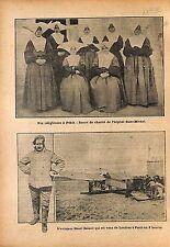 Soeurs de Charité Hôpital Saint-Michel Pékin Beijing China  1912 ILLUSTRATION