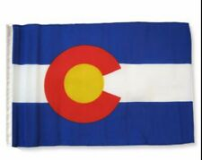 "12x18 12""x18"" State of Colorado Sleeve Flag Boat Car Garden"