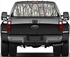 Camo Snow Storm Trees Rear Window Graphic Decal for Truck SUV Vans