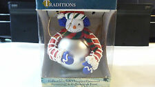 Traditions Collectible Glass Character Ornament Snowman