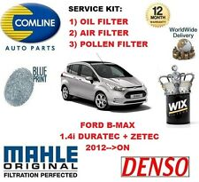FOR FORD B MAX 1.4 MPV 16v 2012-- ON OIL AIR POLLEN FILTER SERVICE KIT