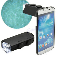 Mini Handheld 60X-100X LED Lighted Microscope Magnifier Glass Lens Jeweler Loupe