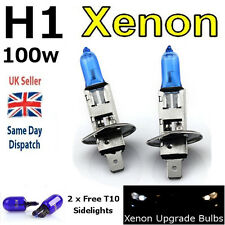 H1 100w SUPER WHITE XENON (499) HIGH BEAM UPGRADE Head Light Bulbs 12v I