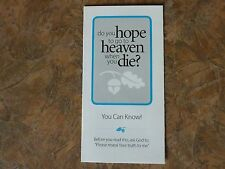 100 Gospel Tracts - Share your faith - Help others know God  -Ships FREE in US