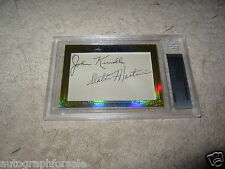 John Kundla & Slater Martin 2014 Leaf Masterpiece Cut Signature auto 1/1 Lakers