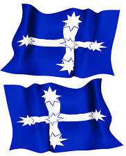 EUREKA FLAG DECAL  left and right facing   SIZE 50 MM BY 31 MM NED KELLY